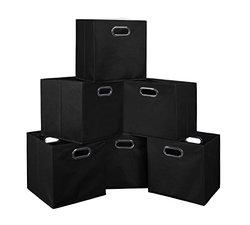 Niche Cubo Foldable Fabric Storage Bins - Black - Set of 6