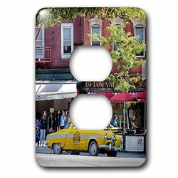 3dRose lsp_173642_6 Historic Taxi In Nyc - 2 Plug Outlet Cover