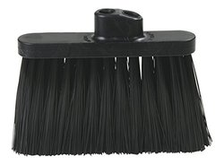 13 in. Duo-Sweep Heavy Duty Broom Head Only in Black Case of 12