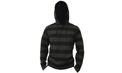 Bargain Hunters Men's Lightweight Striped Pullover Hoodie - Black - XL