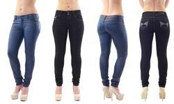 Dasein Women's Denim Jeans: Blue/sz 5