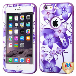 Mybat iPhone 6 Plus/6S Plus Flower Hybrid Hard Cover Case - Purple