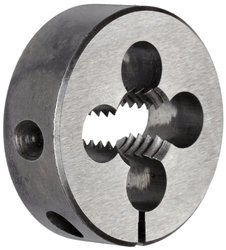 "Union Butterfield 2010(UNC) Carbon Steel Round Threading Die, Uncoated (Bright) Finish, 1-1/2"" OD, 1/2""-13 Thread Size"
