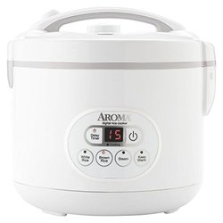 Aroma 12 Cup Digital Rice Cooker & Food Steamer - White
