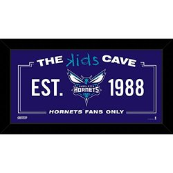 "Steiner Sports NBA Charlotte Hornets Kids Cave Sign - Size: 10"" x 20"""