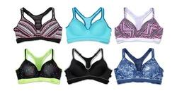 Women's Assorted Racerback Sports Bras (6-Pack) - Size 40D