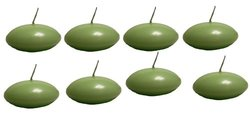 Biedermann & Sons 3-Inch Round Floating Candles, Daiquiri Green, Set of 8