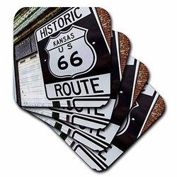 """3dRose """"Kansas USA Route 66"""" Coasters Set of 8"""