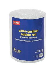 """Staples 5/16"""" T x 12"""" W x 30' L Extra-Cushion Bubble Roll - (27176-US/CC)"""