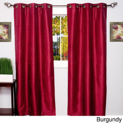 "76""x84"" Foam-Backed Blackout Grommet Panel Pair - MadonnaA Burgundy"
