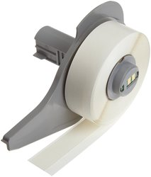 "0.5""x1.5""H Repositionable Vinyl Label for Label Printer -5000/Roll -White"