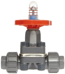 """DAB1005UFF PVC Diaphragm Valve Seals 1/2"""" Socket and Threaded Connections"""