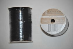 "Bags & Bows 1/4"" x 60 Yards 100% Rayon Raffia Black Pearlized Ribbon"
