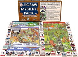 Family Pastimes Kids Jigsaw Mystery Pack 4-in-1 Co-operative Puzzle Game