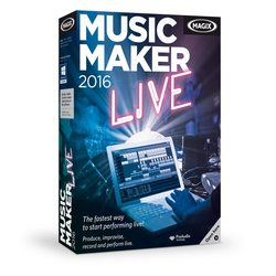 MAGIX Music Maker 2016 Live Software for Windows/10/8 and 7
