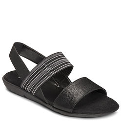 Aerosoles A2 Savant Women's Wedge Slingback Sandals - Black - Size: 11 M