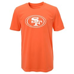 NFL San Francisco 49ers Boys Performance Tee - Neon Orange - Size: X-Large