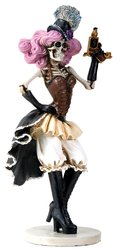Summit Day of the Dead Skeleton Skull Cowgirl Gunslinger Figurine