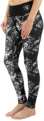 NFL Women's Oakland Raiders Thematic Print Legging - Black - Size: X-Small
