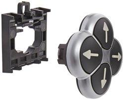 Eaton 22mm Dia Four Way Pushbutton Operator - Black (M22-D4-S-X7)