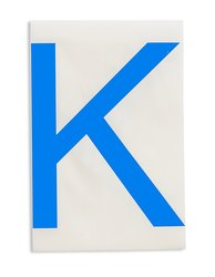 "Brady Blue Letter ""K"" ToughStripe Die-Cut Polyester Tape - Pack of 20"