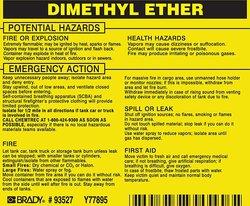 "Brady 3 3/4"" H x 4 1/2"" W Hazardous Material Label -25-Pack - Black/Yellow"