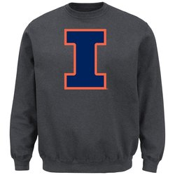 NCAA Men's Univ of Illinois Champaign Sweatshirt - Charcoal Heather - XL