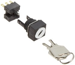 Omron 16mm Mounting Aperture Key Selector & Switch (A165K-A2ML-1)