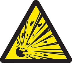 "Brady 1/2""x1/2"" Pressure Sensitive Vinyl Warning Labels - Pack of 10"