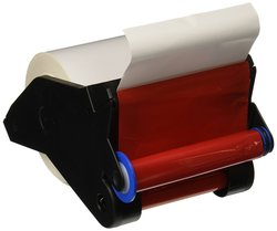 "Brady 4""x90' VersaPrinter Tape Cartridge Indoor Vinyl Film - Red/White"