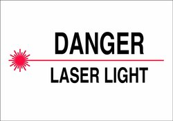 "Brady 7""X10"" Legend ""Danger Laser Light"" Aluminum Radiation & Laser Sign"