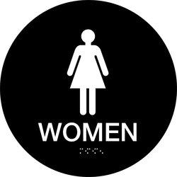 "Brady 12"" Legend Women California/Ada Restroom Sign"