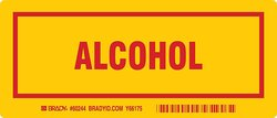 """Brady 3""""x7"""" Red on Yellow Legend """"Alcohol"""" Container Label - 25-Pack"""