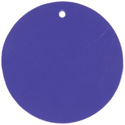"""Brady 56933 3"""" Round Blue Color-Code Plasti-Tags - 25 ct"""