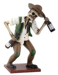YTC El Borracho Green Skeleton Holding Liqour Bottle Collectible Figurine