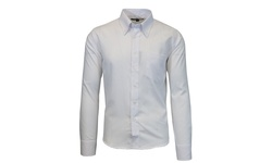 Galaxy by Harvic Men's Slim-Fit Button-Down Shirts - White - Size: Medium