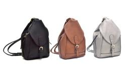 Dasein New York Orlando Backpack Handbag: Brown