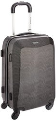 "Rockland Vision Polycarbonate Carry-On Luggage Set - Crocodile (20"")"