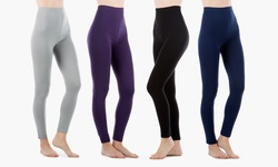 Sociology Women's High Waist Stretchy Leggings 4Pk - Assorted - Size: L/XL