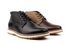 Vincent Cavallo Men's Two Tone Chukka Boots - Dark Brown - Size: 7.5