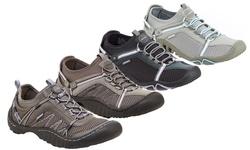 JSport Women's Athletic Slip On Shoes - Light Grey/Cool Blue - Size: 8