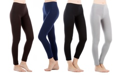 Sociology Cotton Leggings 4-pack: Black-brown-charcoal-navy/medium-large