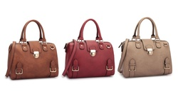 Dasein New York Preview Fall Structured Satchel Handbag: Red