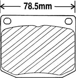 Beck Arnley  082-1247  Premium Brake Pads