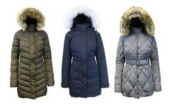 Spire By Galaxy Women's Down Jacket - Navy - Size: Medium