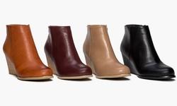 Sociology Women's Wedge Bootie - Black - Size: 6.5
