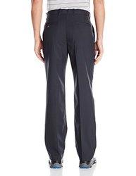 Callaway Men's Flat-Front Microfiber Pant, Caviar, 34/32