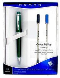 Cross Bailey Ballpoint Pen 2 Refills & Gift Box - Green (at0452h-16/15)