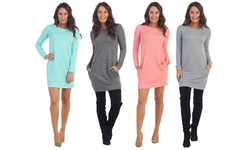 Classic Sweater Dress: Heather Grey/large