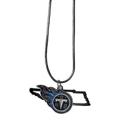 """NFL Tennessee Titans State Charm Necklace, 18"""", Metal"""